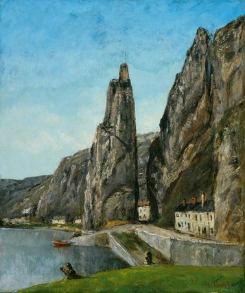 The Rock at Bayard, Dinant, by Courbet