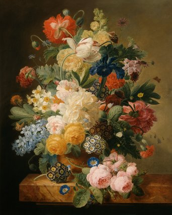 Vase of flowers, by Melanie de Comolera