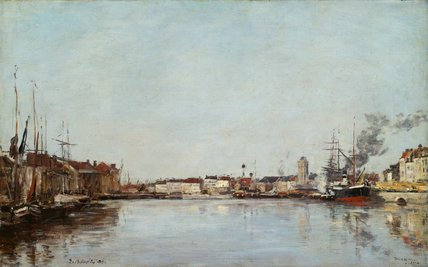 The Dutch Dock, Dunkerque, by Boudin