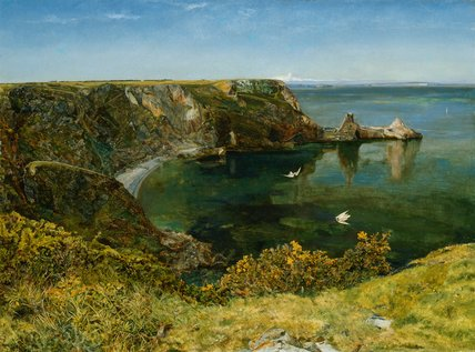 Anstey's Cove, Devon, by John William Inchbold