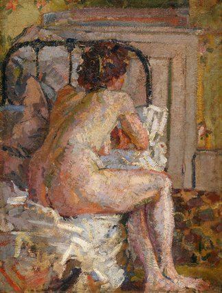 Nude on a bed, by Harold Gilman