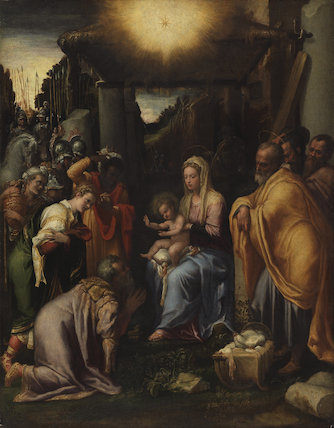 Adoration of the Kings, by Taddeo Zuccari
