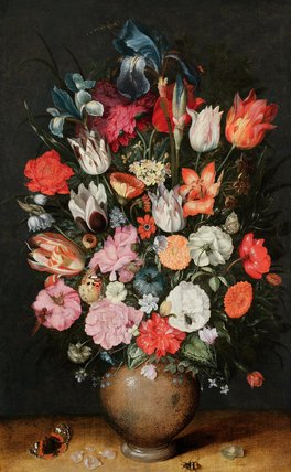 A vase of flowers, by Philips de Marlier