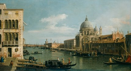 View of the Grand Canal, by Canaletto