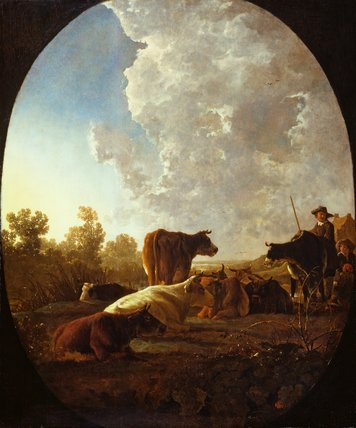 Sunset after rain, by Aelbert Cuyp