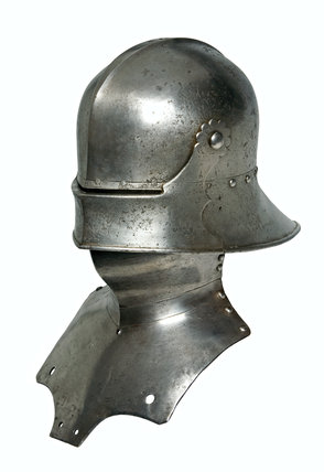 Sallet and bevor, with a moveable visor