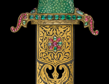Dagger and scabbard, Persian and Turkish