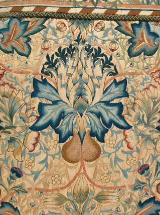 Embroidered Artichoke Wall Hanging By William Morris By Ada