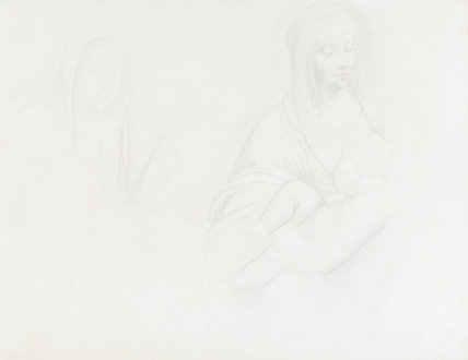 Studies after two Italian Madonnas, by Degas