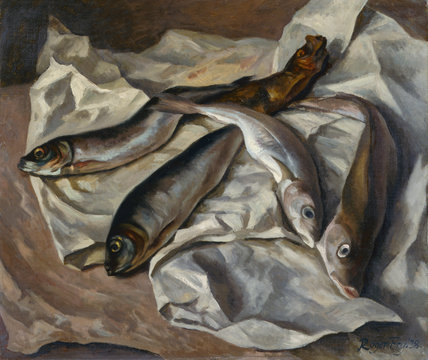 Still-life of fish, by Roger Fry