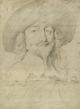 Portrait of Charles I, follower of van Dyck