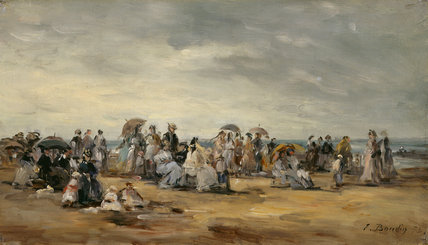 The Beach at Trouville, by Boudin