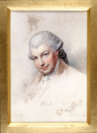 Carl Friedrich Abel, by William Wood