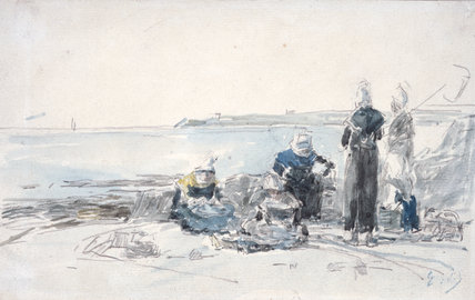 Fisherwomen in Brittany, by Boudin