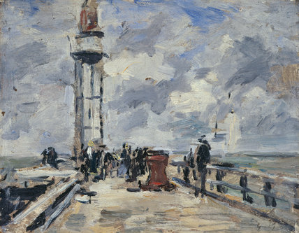 The Jetty and Lighthouse at Honfleur, by Boudin