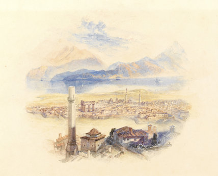 Corinth from the Acropolis, by Turner