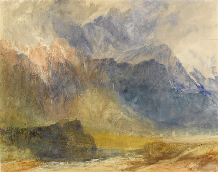 From Sarre looking towards Aymavilles, by Turner
