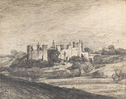 Framlingham Castle from the West, by Constable