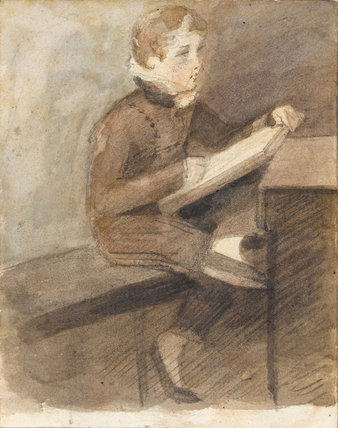 James Heys Drawing in a Book, by Constable