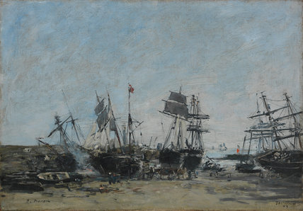 Low Tide, Portrieux, by Boudin