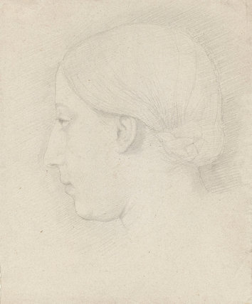 Head of Therese Degas, by Degas