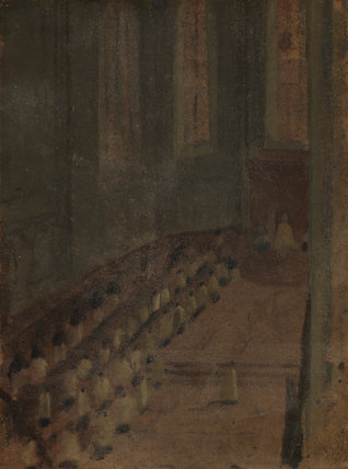 Ceremonie D'ordination dans la Cathedrale de Lyon, by Degas