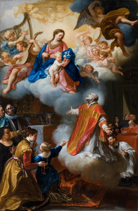 The Vision of St. Philip Neri, by Marco Benefial