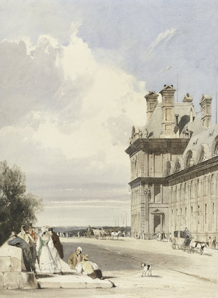 Pavillon de Flore, Tuileries, Paris, by T.S. Boys