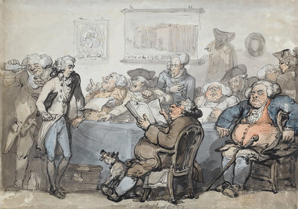 A Meeting of Creditors, by Thomas Rowlandson