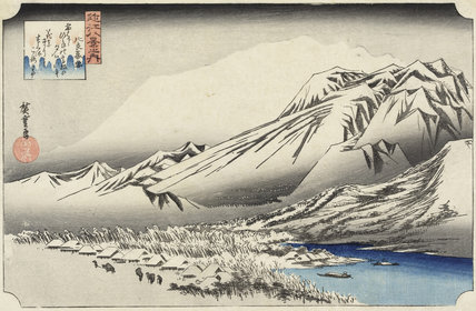 Evening Snow on Mount Hira (Hira bosetsu), by Utagawa Hiroshige