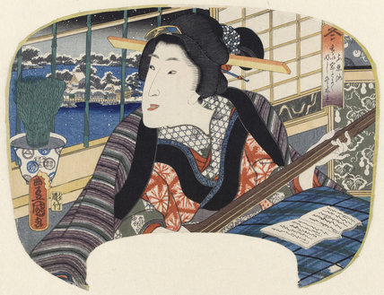 Winter, Shinobazu Pond, by Utagawa Kunisada
