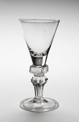 Wine Glass with 'God Save King George', English