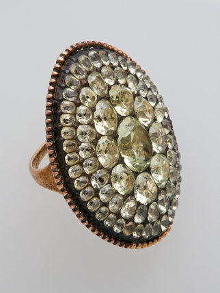 Silver Ring, Set with Chrysoberyls