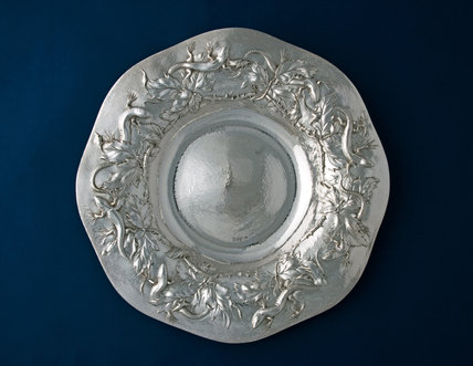 Arts & Crafts Silver Dish, by Gilbert Leigh Marks