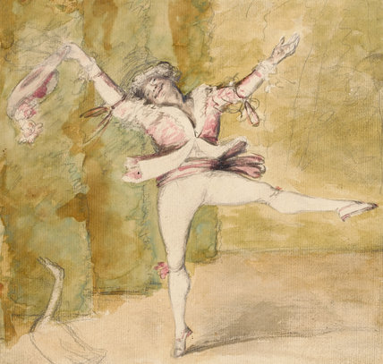 A caricature of Marie-Auguste Vestris, by Dance-Holland