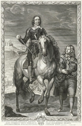 Oliver Cromwell, by Pierre Lombart