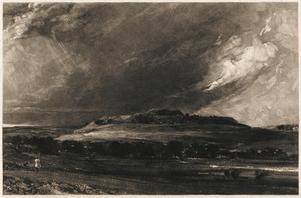 Old Sarum, by David Lucas, after Constable