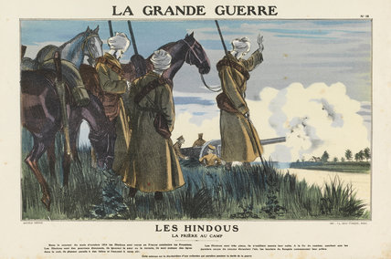 Hindus. Prayer at the camp, La Grande Guerre