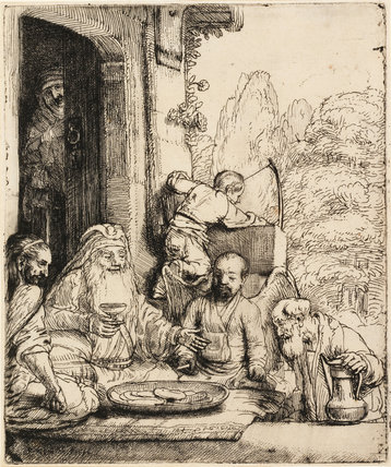 Abraham entertaining the Angels, by Rembrandt
