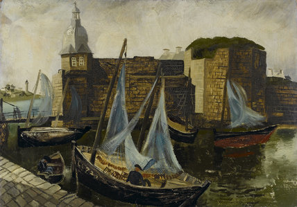 La Ville-Close, Concarneau, by Christopher Wood