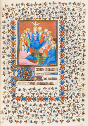 Pentecost with Virgin, book of hours