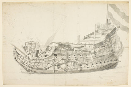 Study of a Dutch ship, by Willem van de Velde
