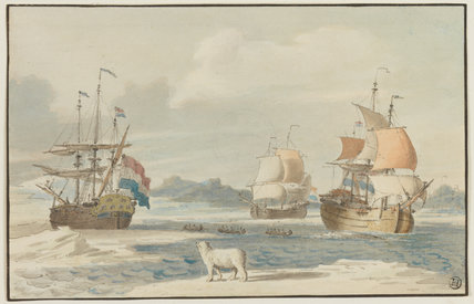 Dutch whalers in the Arctic, by Wigerus Vitringa