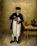 Portrait of the Chatsworth cellarman, c.1835