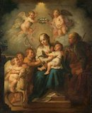 The Holy Family, Saint John and Angels