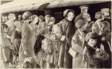 The Evacuation of Children from Southend, Sunday 2nd June 1940. Children in Wartime - Five lithographs by Ethel Gabain.