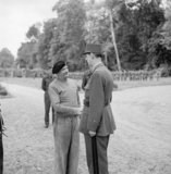 General Charles de Gaulle with General Montgomery at his HQ in France, 14 June 1944.