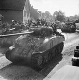 Sherman tanks of 11th Armoured Division during the advance towards Gemert in Holland, 26 September 1944.