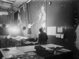 The Operations Room at Derby House in Liverpool, the headquarters of the Commander-in-Chief Western Approaches, September 1944.