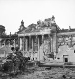 Ruins of the Reichstag in Berlin, 3 June 1945.